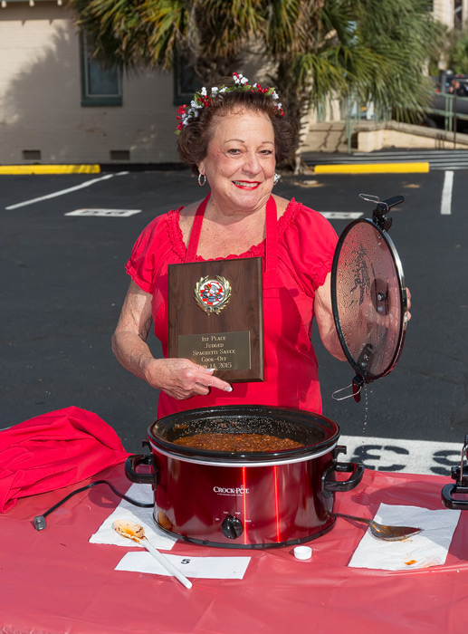 Spaghetti Sauce Cook-Off Winner Mary Resedean
