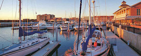 Palafox Pier and Yacht Harbor Pensacola Florida